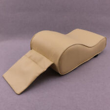 Beige Car SUV Armrest Box Mats Console Liner Cushion Cover PU Leather Well