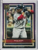 RAFAEL DEVERS 2020 TOPPS MUSEUM COLLECTION CARD #89 BOSTON RED SOX #/d/99 PURPLE