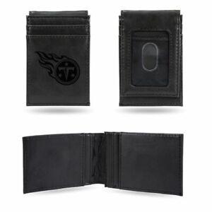 Tennessee Titans Laser Engraved Black Front Pocket Wallet / Money Clip