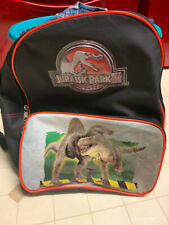 Fun Jurassic Park III Backpack Back Pack Black Spinosaurus T-Rex Front Pocket