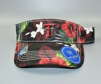 Texas Tech Red Raiders Top of the World Floral Adjustable Snapback Cap Visor Hat