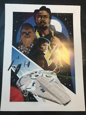 """Star Wars Solo """"in This Life Forever"""" Danny Haas Lithograph Signed Print"""