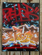 toile Graffiti originale - peinture signée - graff hip hop tag street art