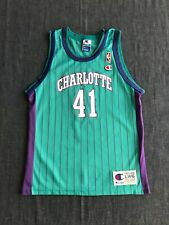 Rare Vintage 90s NBA Charlotte Hornets Glen Rice #41 Jersey  Size: Youth L 14-16