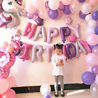 68Pcs Unicorn Crown Balloon Set Happy Birthday Baby Shower Party Decor Supplies