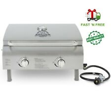 Pit Boss 2-Burner Portable Gas Grill, Stainless Steel Pit Boss 2-Burner Portab