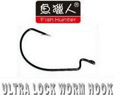 FISH HUNTER HAMECONS SIMPLES TEXAN ULTRA LOCK WORM HOOK Sz 2 (x 10)