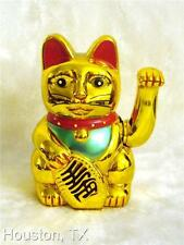 "10""Large BIG Chinese Lucky Good Luck Gold Waving Hand Paw Up Fortune Kitty Cat v"