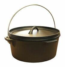Cast Iron Stock Pot with handle/Dutch Oven Stock Pot Camping/stoves 4qt  4.5 Ltr