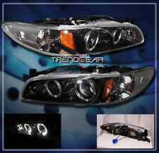 1997-2003 PONTIAC GRAND PRIX 2/4DR TWIN HALO PROJECTOR HEADLIGHT BLACK GT GTP SE