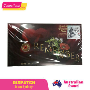 2018 Australia Remembrance Day Red Poppy PNC - RARE - Limited - 1,111 Produced