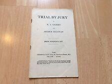 Juicio con jurado Vintage partitura vocal W S Gilbert Sullivan Chappell