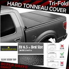 "Lock Tri-Fold Hard Solid Tonneau Covers For 1997-2003 FORD F-150 6.5 FT 78"" Bed"