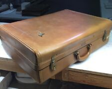 HARTMANN Knocabout Doubleton Vintage Brown Leather Suitcase