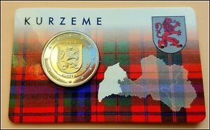 2 Euro Gedenkmünze Lettland  2017- Regionen Lettlands Kurzeme Kurland- Coincard