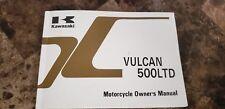 KAWASAKI OEM MOTORCYCLE OWNER'S MANUAL EN 500 C1 VULCAN 500 LTD P# 99920-1783-01