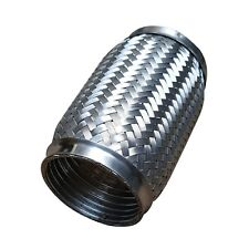"""3 """" x 6 """" pouce échappement Section FLEXIBLE 100% INOX extrémités Inc Tuyau 76mm"""