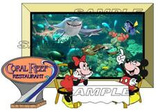 Disney World Epcot Coral Reef Restaurant The Seas Scrapbook Paper Die Cut Piece