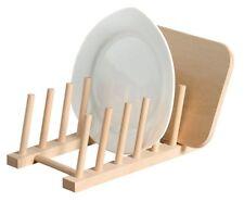 Tellerständer Tellerhalter Geschirrhalter Organizer Geschirrständer Holzständer