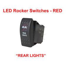"Toggle Switch - Universal LED Rocker - RED - ""REAR LIGHTS""  5-pin"