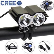 5000Lm 2x CREE XM-L U2 LED Headlamp Bicycle Bike Light Torch Headlight Lamp