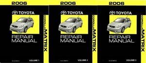 2006 Toyota Corolla Matrix Shop Service Repair Manual Complete Set
