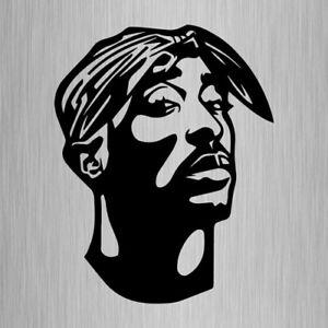2pac Sticker Vinyl Decal Hip Hop Rap 180mm x 140mm