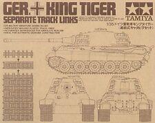 Vínculos de seguimiento Tigre Rey Tamiya 1/35 # 35165
