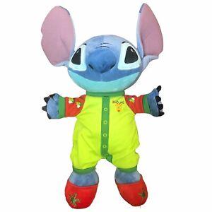 Lilo Plush Christmas Disney Store Green Pajamas Stuffed Animal Holiday 2011