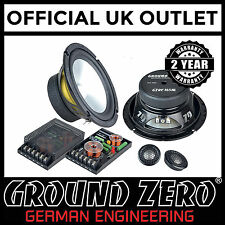 """Ground Zero Radioactive GZRC 165AL-IV 6.5"""" 380W 2 Way Component Car Speakers"""