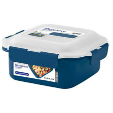 Lock & Lock 1.1L 18cm Microwave Square Food Container Leakproof Lunch Box Blue