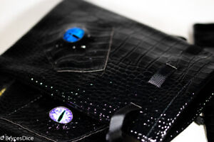 Dragon Scale Dice Bag 6x4 Inch w/Dragon Eye (random color eye) Counter Pouch
