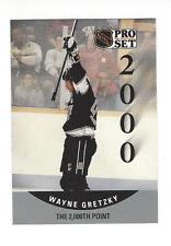 1990-91 Pro Set #703 Wayne Gretzky 2000th