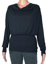 Women's Cotton Blend No Pattern Cowl Neck Jumpers & Cardigans