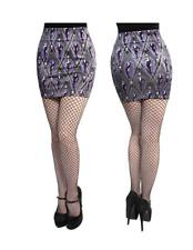 Kreepsville 666 Vampira Black Purple Arghoul Mini Skirt Size Medium