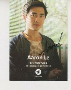 ARD Autogrammkarte Aaron Le Rentnercops Tatort ZDF SOKO RTL NDR