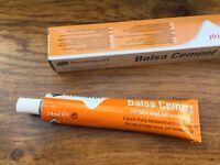HUMBROL 24ml Balsa Cement tube for balsa wood, soft wood cork Quick drying clear