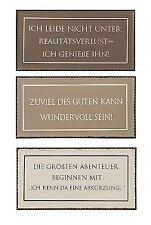 3er Set Metall Schilder 40 x 20 cm Deko Blechschild mit Spruch