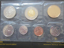 2005 Canada Proof-Like Coins Set (7 Coins Cent to $2 PL Set).