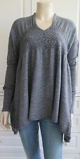 HIGH by CLAIRE CAMPBELL grey asymmetrical tunic jumper - S / UK10