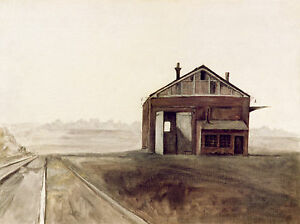 Railway Shed POSTCARD Steve Greaves Landscape Oil Painting Building Print Train