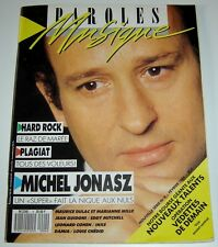 Revue PAROLES & MUSIQUE magazine Michel JONASZ n° 4 de février 1988 chansons TBE