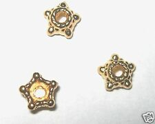 200 - 14 Kt Gold Plated Bead Caps-4mm+FREE-25 clasps-      (2C9)W3C