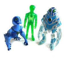 Ben 10 ALIEN FORCE 10cm TOY FIGURE x 3 include esclusivo Verde ben