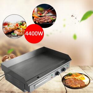 4400W Grillplatte Gastro Bratplatte Grilldleplatte Elektro Elektrische Edelstahl