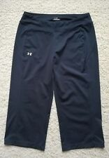 Women's Under Armour Yoga Gym Tennis Athletic Cropped Pants Stretchy SZ M Fit L