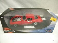 New in Box Diecast Hot Wheels 1966 Corvette Pro Street Drag Car Red