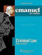 Criminal Law Elo 2010 by Steven Emanuel (2010, Paperback, Student Edition of...