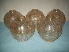 5 Kugel Lampenschirme Glasschirm Glas Lampe Schirm H-15,5 cm D/M-15cm
