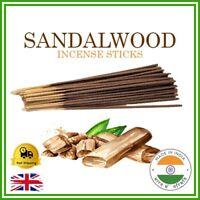 ❤️ SANDALWOOD Incense Sticks Handmade Indian Bamboo Premium Fragrance Smell UK